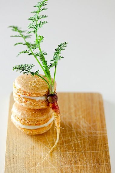 Carrot cake macarons with maple cream cheese filling recipe - Lara ...