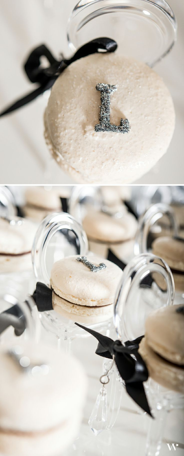 Luxe black and white macarons - perfect for your Black Tie wedding ...