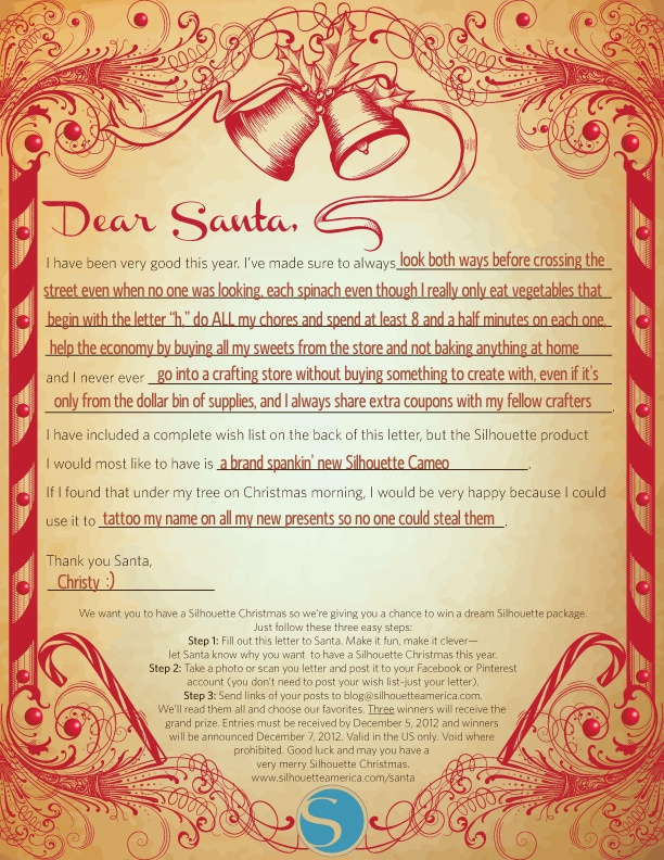 My Dear Santa Letter...There Ain't Nothing Better!