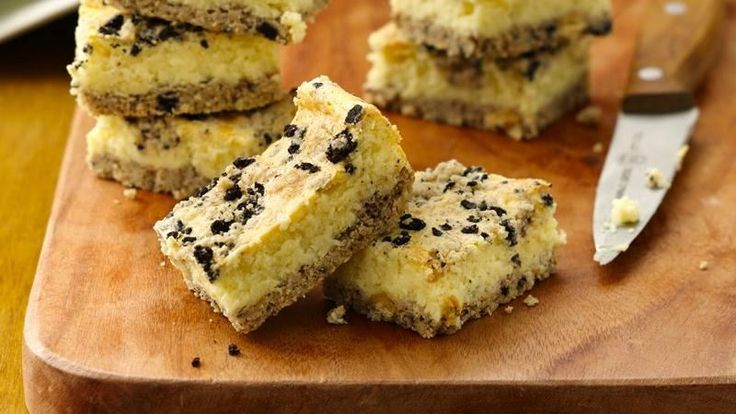Cookies and Creme Cheesecake Bars--This extra-easy 3-step cheesecake ...