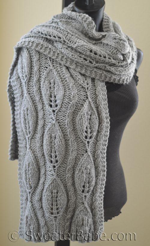 #190 Kinsley Chunky Scarf PDF Knitting Pattern