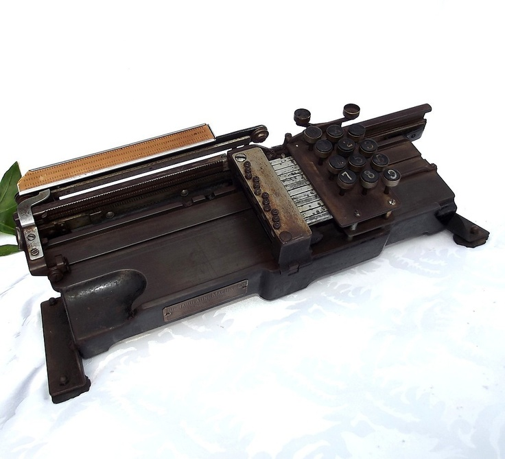 Antique tabulating machine co card punch pre ibm patent 1918 herman h ...