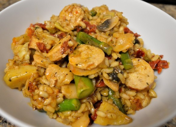 Sausage & Asparagus Risotto | Yummy! | Pinterest