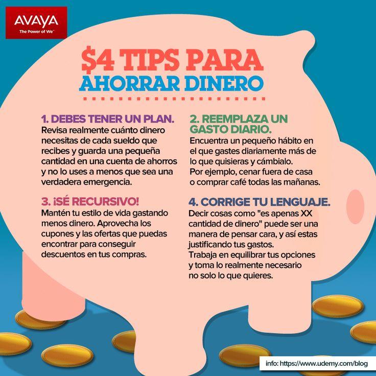 4 tips para ahorrar dinero tips pinterest - Ideas para ahorrar dinero ...