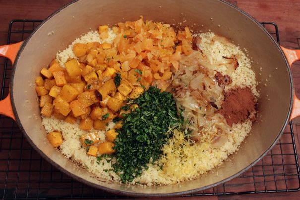 Couscous with Apricots and Butternut Squash