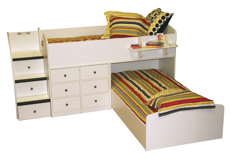 L Shaped Low Loft Bed Sierra Collection