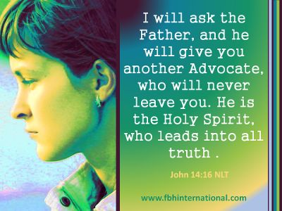 The Holy Spirit is our Advocate. | Words from John | Pinterest