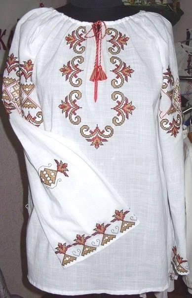 Схемы вышивки бисером на рубашке