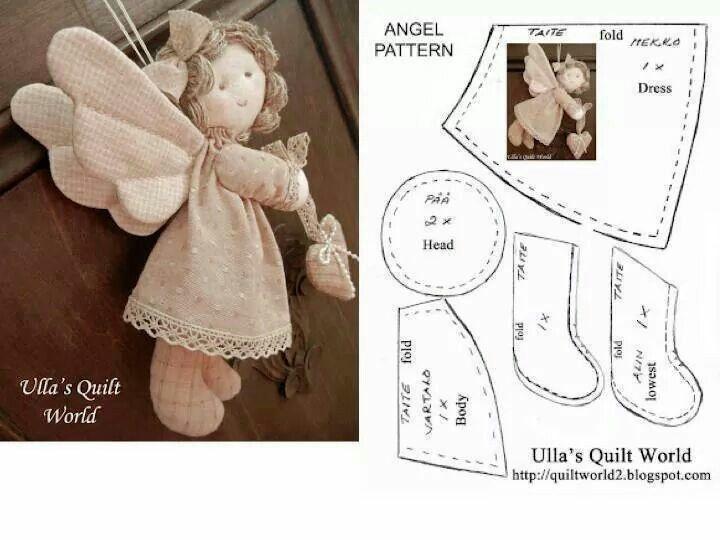 Выкройка куклы ангела своими руками 44