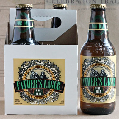 Father's Lager. Custom beer labels