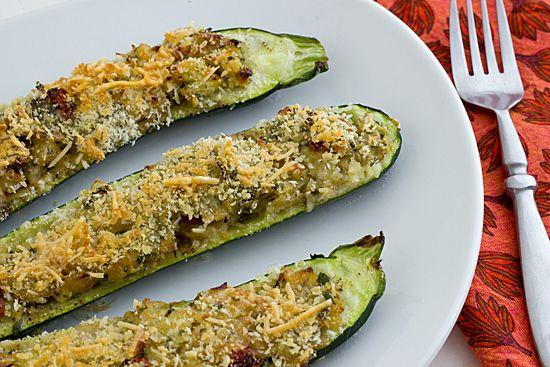 Vegetarian Stuffed Zucchini with Parmesan Panko | Recipe