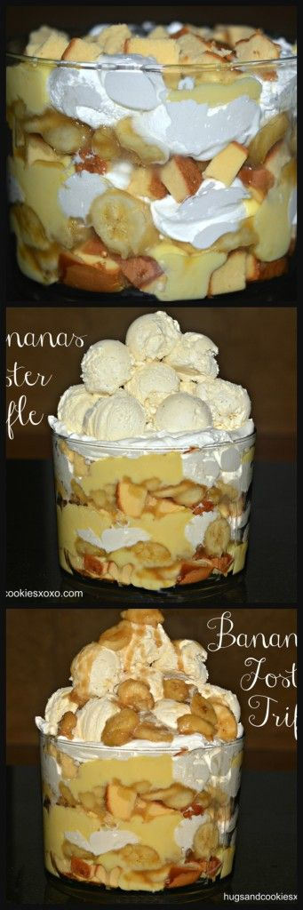 Bananas Foster Trifle - Hugs and Cookies XOXO