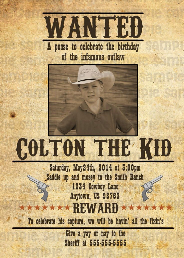 Western Birthday Party Invitations with great invitation design