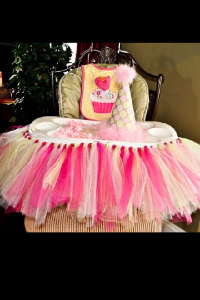 First birthday high chair decorations parties pinterest