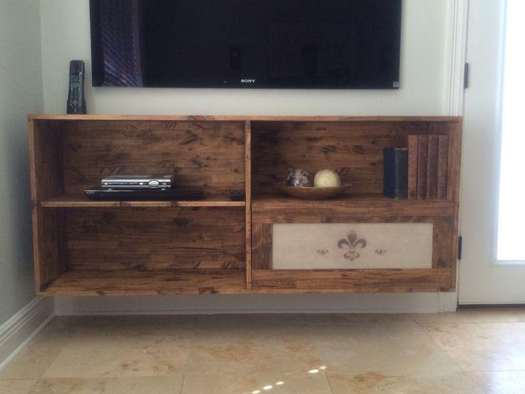 homemade floating tv stand furniture pinterest. Black Bedroom Furniture Sets. Home Design Ideas