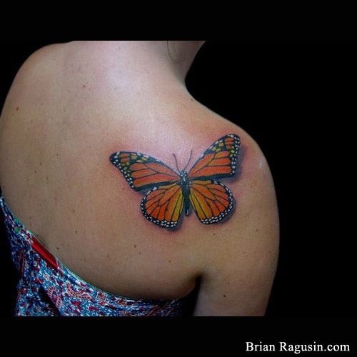 #Monarch #butterfly #tattoo | Shoulder Tattoos by Brian ...