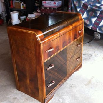 1940s Art Deco Furniture 1930s Or 1940s Art Deco Waterfall Dresser