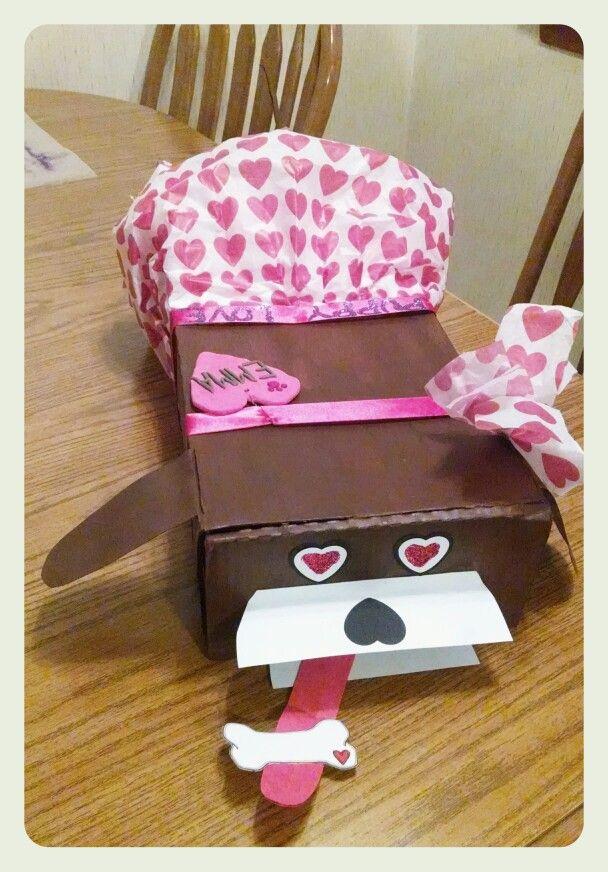 valentines day box dog