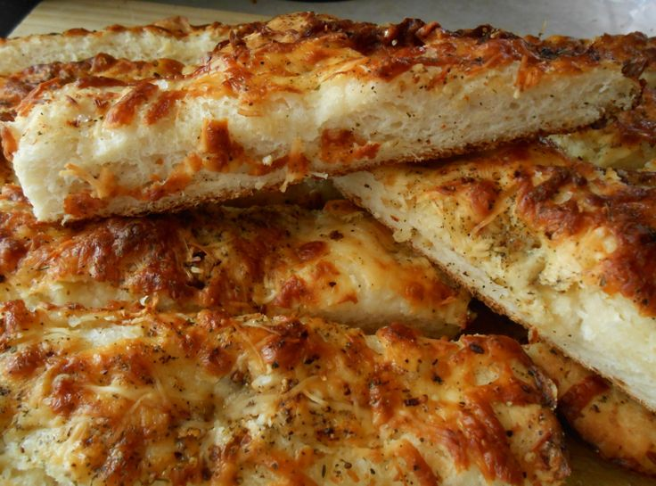 Cheesy foccacia bread sticks | Yummy Breads | Pinterest