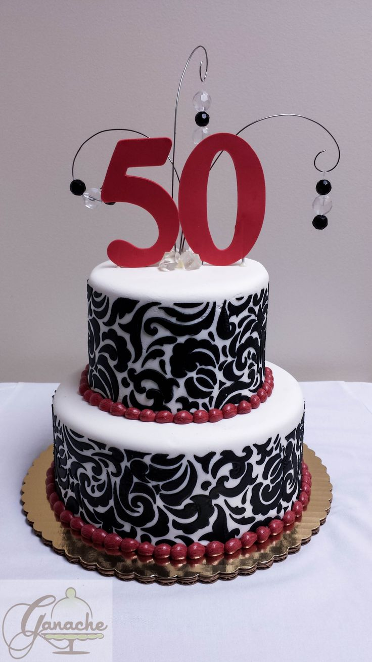 Cake Designs 50th Birthday : Happy 50th Birthday Cake. Birthday Cakes Pinterest