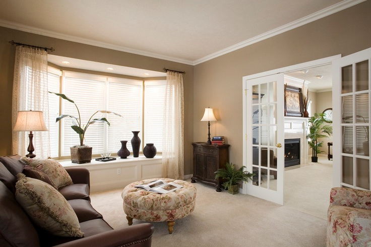 Bay window decorating living room modern house for 3 living room windows