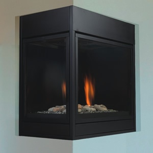 PROCOM DUAL FUEL VENT-FREE FIREPLACE WITH CORNER