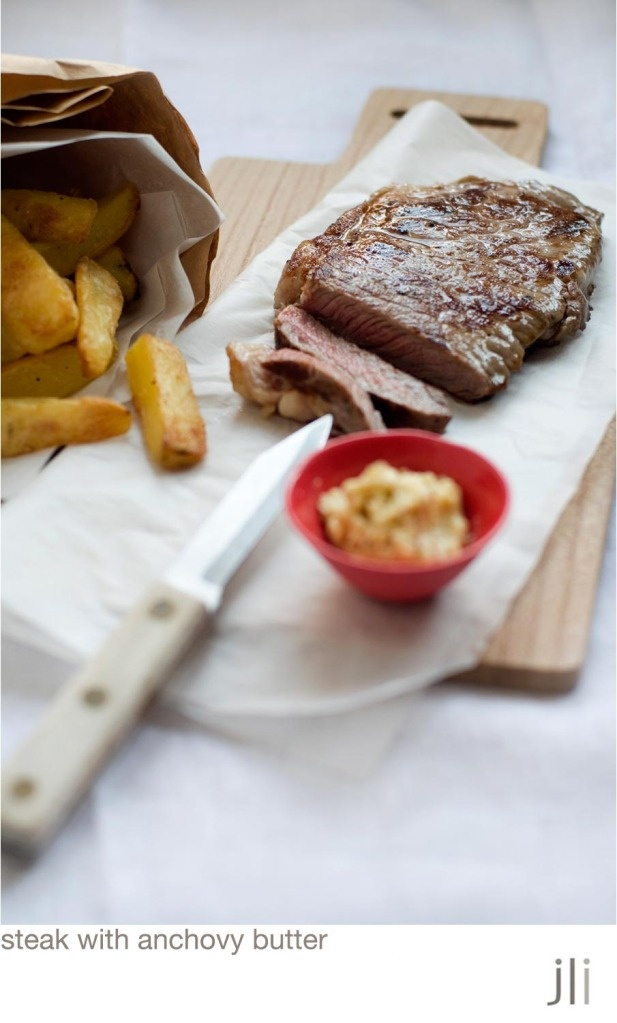 spicy anchovy butter bavette with smoked anchovy butter recipe gourmet ...
