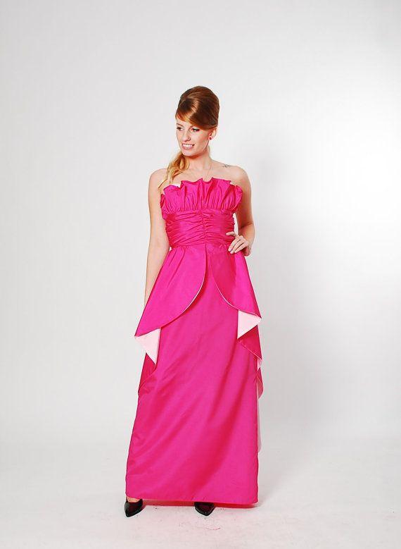 80s Prom Dress 1980s Prom Dress Hot Pink Amp Ballet Pink