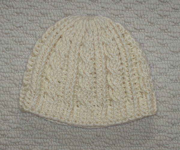 Crochet Stitches Cable : Cable Crochet Beanie Crochet hats Pinterest