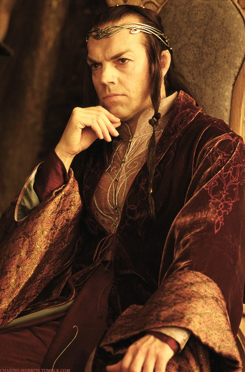 lord elrond hugo weaving lotrhobbit pinterest