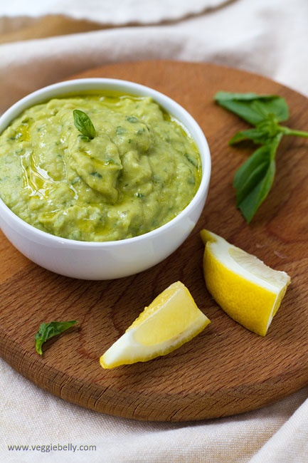 white bean, asparagus and basil dip- made this and it was great!