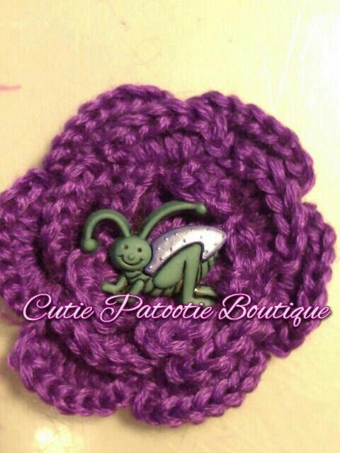 Crochet Hair In Purple : Purple Grasshopper Crochet Hair Accessory by CuTiEpAtOoTieBsHoP, $1.50