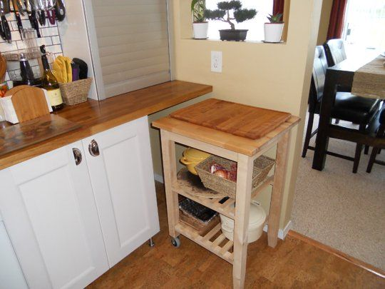 Audrey 39 S Comfy Cork Floor Kitchen Small Cool Kitchens 2013