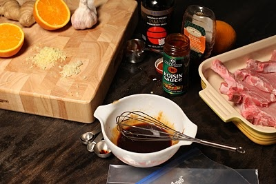 Bos Bowl: Hoisin Marinated Grilled Pork Chops