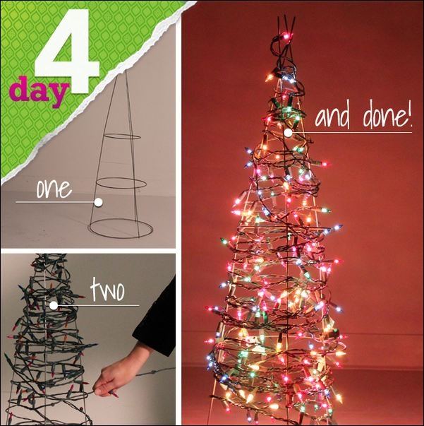 Lowes easy outdoor christmas tree diy crafty pinterest