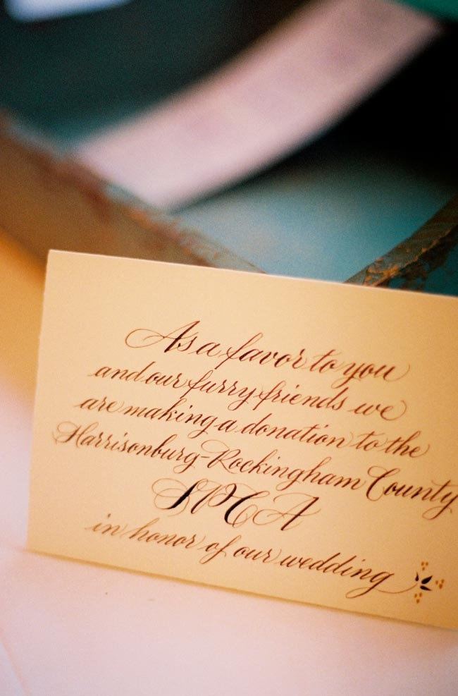 Wedding Favor Wording Examples : Donation favors card. I like the wording Wedding! Pinterest
