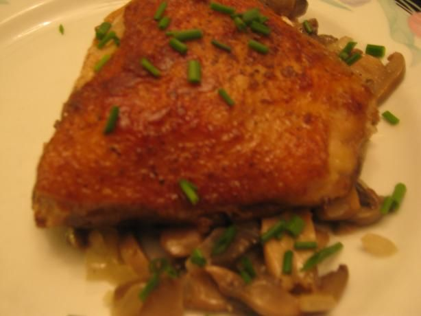 Jacques Pepin's Crusty Chicken With Mushrooms And White Wine Recipes ...