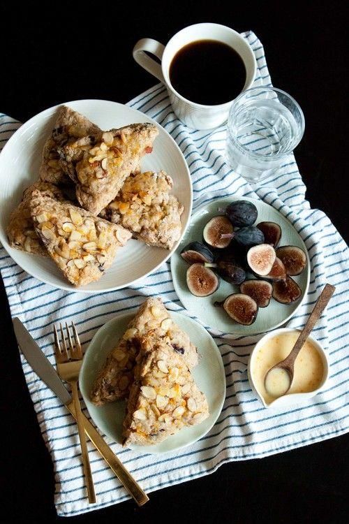 fig-orange-almond scones | Food + Drink | Pinterest