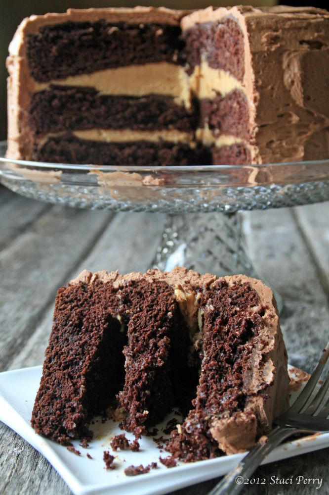 Chocolate peanut butter layer cake | Recipes: Cakes & Cupcakes | Pint ...
