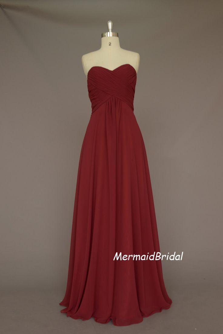 Burgundy bridesmaid dresses my future wedding pinterest