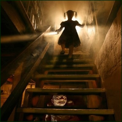 To this day, this is exactly what I imagine is behind terrifying, open-backed basement stairs!