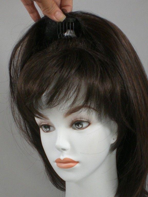 Human Hair Pull Through Wiglet Filler Enhancer Piece up semi updos