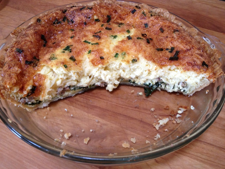 Quiche on Christmas! spicy Italian sausage, applewood bacon and ...