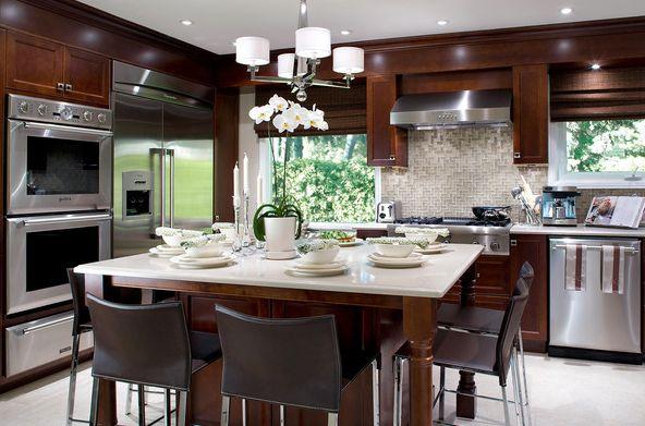 Square island kitchen
