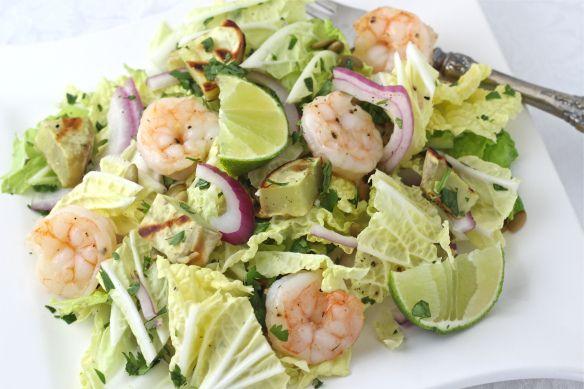 Shrimp sweet potato lime cabbage salad | Culinary Interest | Pinterest