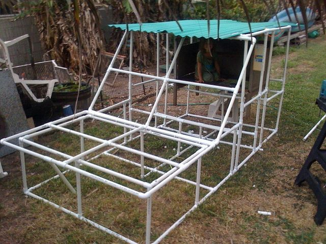 Pvc tractor for the animals pinterest for Pvc chicken house
