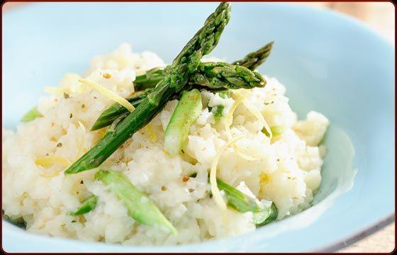 Baked lemon asparagus risotto | Traeger | Pinterest