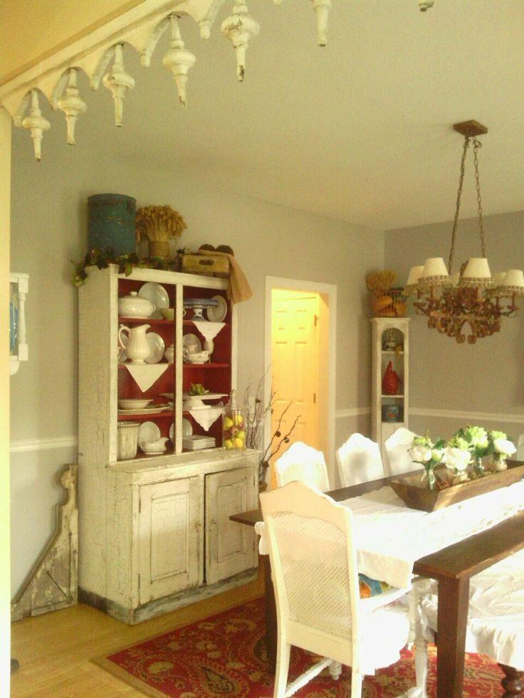 Shabby Chic Dining Room Decorating Pinterest