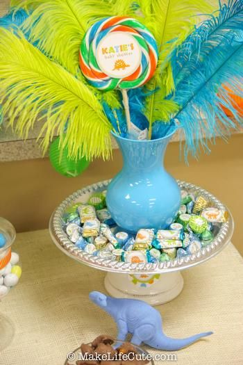dinosaur themed baby shower ideas via baby shower ideas and supplies