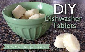 Decor . Craft . Cooking . Fashion - Fun DIY Tutorials: DIY Dishwasher Tablets